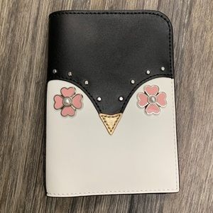 Kate Spade Passport Holder Leather Penguin